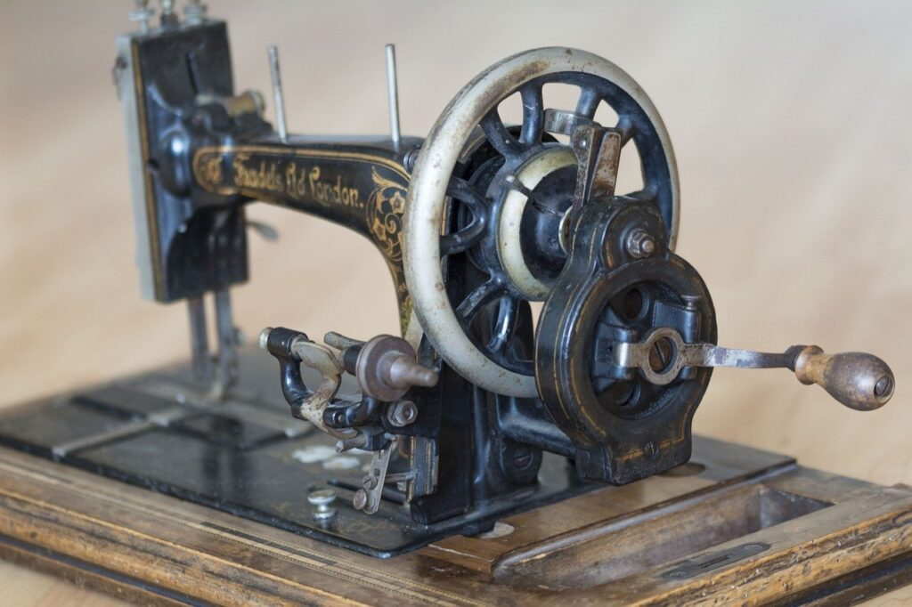 sewing machine, sewing, antique